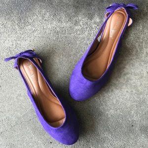Nature Breeze Purple Open Side Ballerina Flats